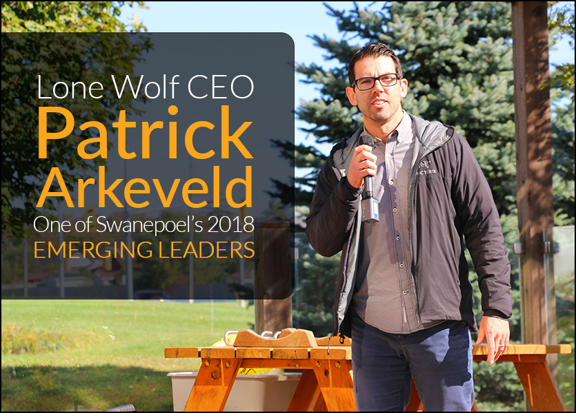 Lone Wolf CEO, Patrick Arkeveld, Named one of Swanepoel's Emerging Leaders for 2018