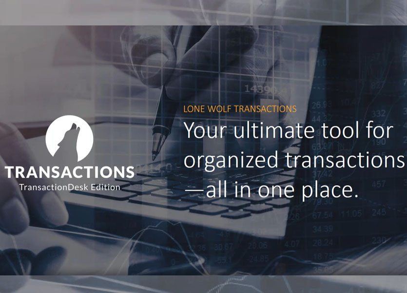 Lone Wolf Transactions (TransactionDesk Edition)